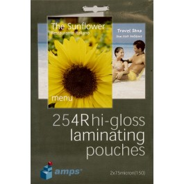 AMPS A6 GLOSS LAMINATING POUCHES
