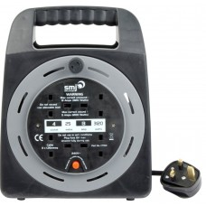 SMJ 25m Extension Lead Cable Reel 4 Way Gang Sockets + Thermal Cut Out 13A 240V CT2513