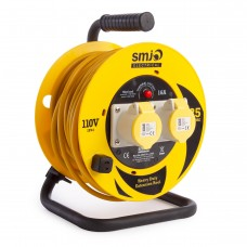 SMJ 110v 16A Extension Cable Reel IP44 25m