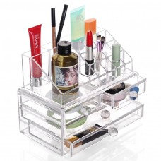 Acrylic Cosmetic Organiser Lipstick Makeup Display Storage Stand + 4 Drawers
